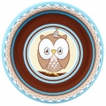 Owl Blue Dessert Plates 